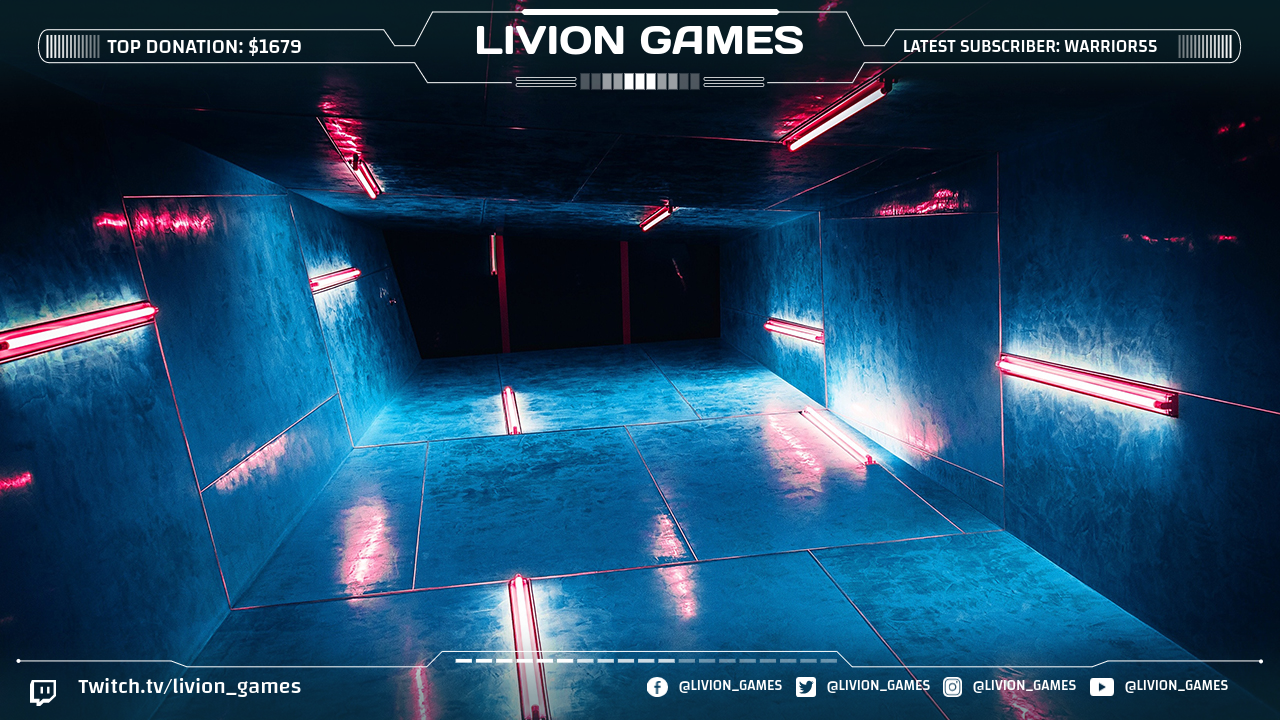 Twitch Overlay Template from Livion Games Creatives