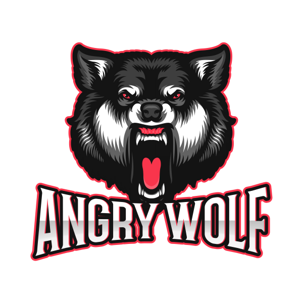 Esports Logo Angry Wolf