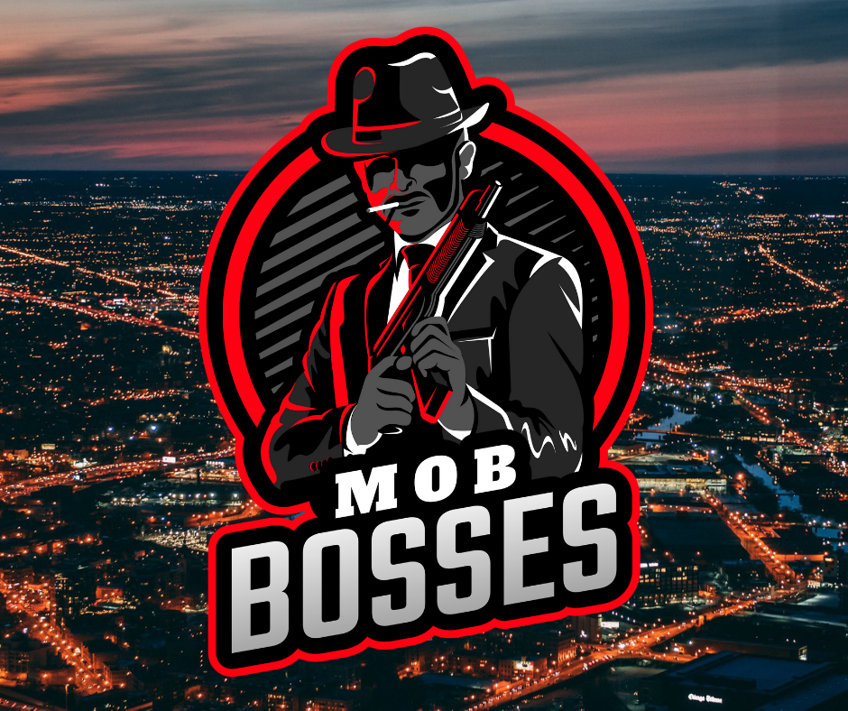Mob Bosses Esports Logo with City Background