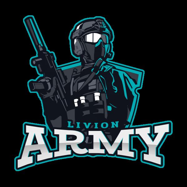 Esports Logo Livion Army Featured Design at LivionGames Creative